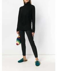 P.A.R.O.S.H. Fringed Roll Neck Sweater