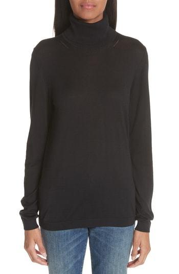 Burberry Kisco Silk Cashmere Turtleneck Sweater