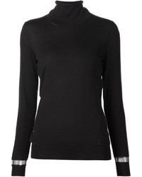 Lanvin Cut Out Detail Turtleneck Top