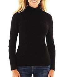 16cfb1d98 Women's Black Turtlenecks from jcpenney | Women's Fashion ...