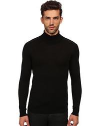 The Kooples Merino And Leather Turtleneck Sweater