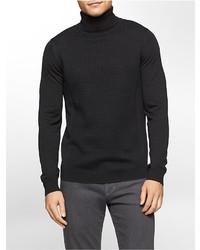Calvin Klein Merino Wool Drop Needle Turtle Neck Sweater