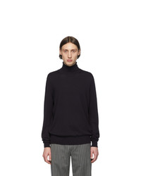 Maison Margiela Navy Patch Turtleneck