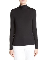 St. John Collection Nuda Fine Jersey Turtleneck Shell