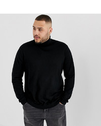ASOS DESIGN Plus Roll Neck Jumper In Black