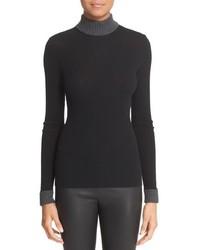 Loewe Rib Knit Wool Turtleneck Sweater