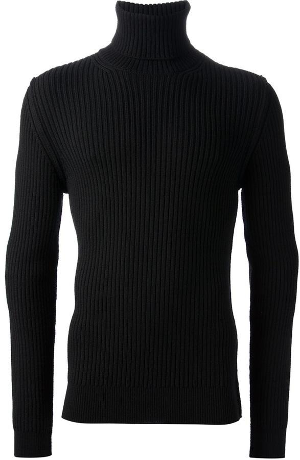 Dolce & Gabbana Ribbed Roll Necksweater