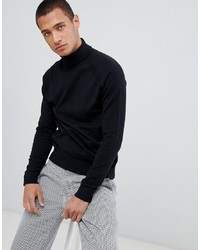 Threadbare Roll Neck Cotton Jumper