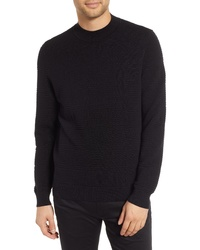 Hugo Svavor Textured Mock Neck Sweater