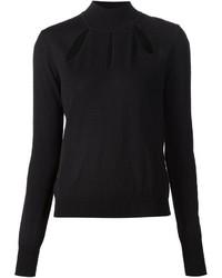 Thierry Mugler Mugler Slit Detail Turtleneck Sweater