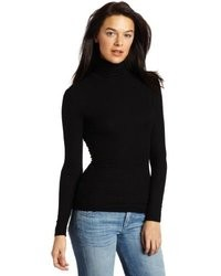 Three Dots Long Sleeve Rib Turtleneck