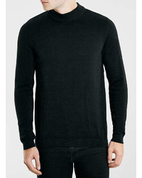 Topman Black Turtle Neck Sweater