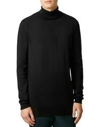 Topman Longline Turtleneck Sweater