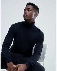 Esprit Turtle Neck Jumper In 100% Cotton In Black