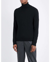 Sandro Turtleneck Fine Knit Wool Jumper