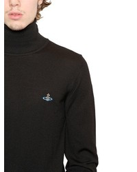 Embroidered Turtle Neck Sweater Mens 5