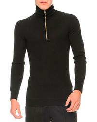 Alexander McQueen Zipper Turtleneck Sweater