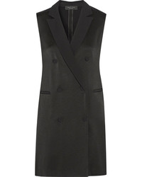 Rag & Bone Adler Satin Mini Dress Black
