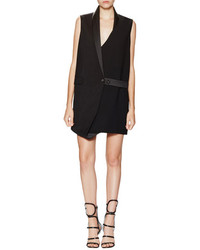 Balenciaga Asymmetrical Tuxedo Dress