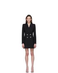 Balmain Black Wool Blazer Dress