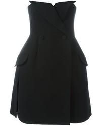 Christian Dior Vintage Strapless Tuxedo Dress