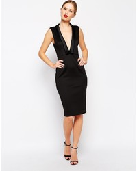 Asos Collection Tuxedo Collar Pencil Dress
