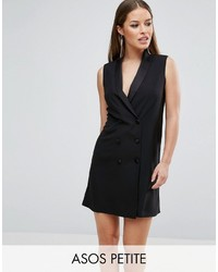 Asos Petite Petite Sleeveless Tuxedo Dress