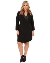 Mynt 1792 Plus Size Tuxedo Wrap Dress, $218 | 6pm.com ...