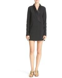 Satin lapel tuxedo dress medium 886732