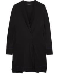 Rag & Bone Shields Pleated Wrap Effect Silk Crepe De Chine Mini Dress