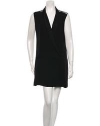 Sandro Sleeveless Tuxedo Dress