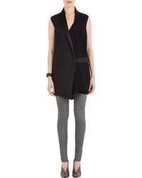 Balenciaga Sleeveless Tuxedo Wrap Dress