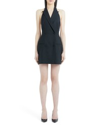 Sara Battaglia Stretch Wool Halter Blazer Dress