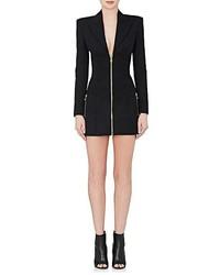 Balmain Tuxedo Inspired Wool Minidress