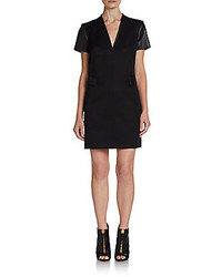 Rachel Zoe Tuxedo Mixed Media Shift Dress
