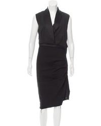 Lanvin Wool Tuxedo Dress