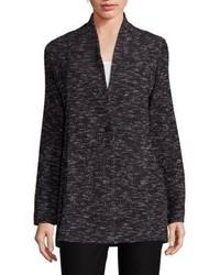 Eileen Fisher Tweed Knit Boyfriend Blazer