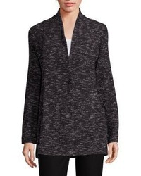 Eileen Fisher Tweed Knit Boyfriend Blazer