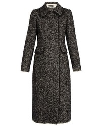 Double breasted boucl tweed coat medium 849930