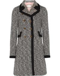 Double breasted tweed coat black medium 1152712