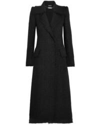 Alexander McQueen Metallic Tweed Coat Black