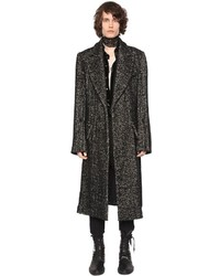 Ann Demeulemeester Oversized Long Wool Tweed Coat