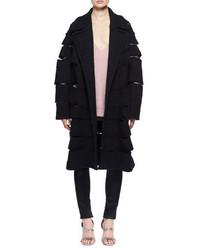 Slashed tweed caban coat medium 4356312