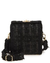Black Tweed Crossbody Bag