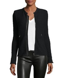 IRO Amiya Fitted Tweed Jacket Black