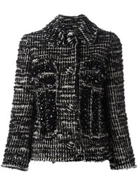 Beaded tweed fitted jacket medium 759492