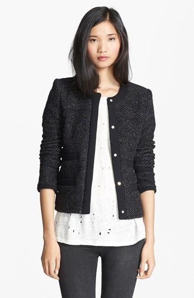 IRO Cym Collarless Tweed Jacket | Where to buy & how to wear