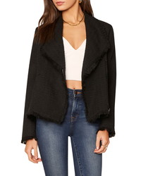 Cupcakes And Cashmere Dion Moto Tweed Blazer