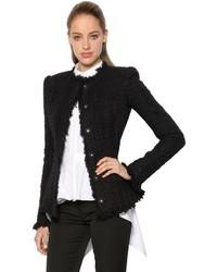 Lurex wool blend tweed jacket medium 3734275