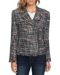 CeCe Multi Tweed Moto Jacket